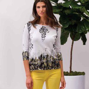 Alison Sheri 100% cotton 3/4 sleeve