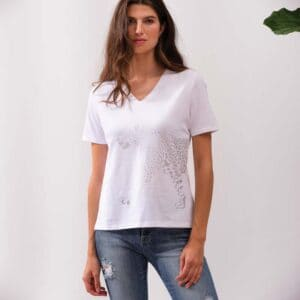 Alison Sheri short sleeve top in 95% cotton and 5% spandex for comfort spring 2021
