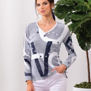 Alison Sheri long sleeved 100% cotton top in small to xxl
