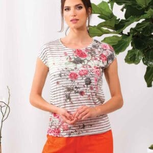 Alison Sheri floral top in 65% polyester and 35% viscose