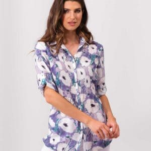 Alison Sheri blouse made with 55% polyester and 45% tencel