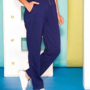 Elena Wang  pant in navy blue