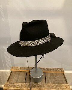Kooringal wide brim Phoenix unisex Hat in black 100% Australian Wool