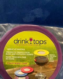 Drink top with ventilation